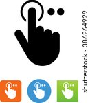 finger pressing a button symbol