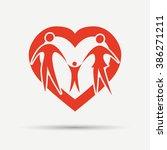 happy family vector | Shutterstock .eps vector #386271211