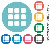 flat small grid icon set on...