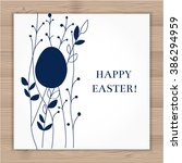 vector easter card with egg and ... | Shutterstock .eps vector #386294959