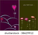 collection funny floral cards | Shutterstock .eps vector #38629912