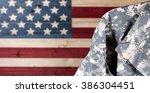 Close up of military uniform...