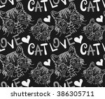 Stock vector cat cute cat cat wallpaper cat drawing cat tattoo cat cartoon cat pattern cat background cat face 386305711