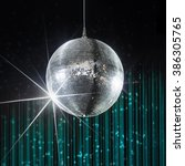 party disco ball with stars in... | Shutterstock . vector #386305765