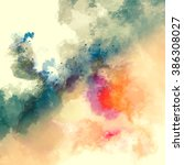 abstract watercolor painting... | Shutterstock . vector #386308027