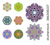 mandalas collection. decorative ... | Shutterstock .eps vector #386308237