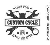 motorcycle badge | Shutterstock .eps vector #386309974