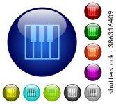 set of color piano keyboard...