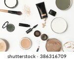 top view of different cosmetics ... | Shutterstock . vector #386316709