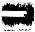 grunge distressed paintbrush... | Shutterstock .eps vector #386332369