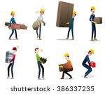 industrial equipment  people... | Shutterstock .eps vector #386337235