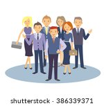 selection of business people.... | Shutterstock .eps vector #386339371