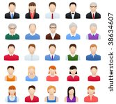 set of peoples icons | Shutterstock .eps vector #38634607