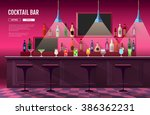 flat style interior of cocktail ... | Shutterstock .eps vector #386362231