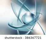 abstract atom close up as a... | Shutterstock . vector #386367721
