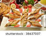 turkish pita with meat | Shutterstock . vector #38637037