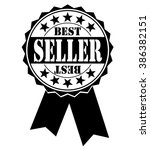 best seller icon on white ... | Shutterstock .eps vector #386382151