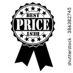 best price icon on white ... | Shutterstock .eps vector #386382745