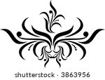 calligraphical figures created... | Shutterstock .eps vector #3863956