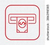 thin line atm icon illustration ... | Shutterstock .eps vector #386398585