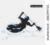 kayaking. vector eps10... | Shutterstock .eps vector #386399731
