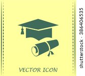 graduation cap vector icon | Shutterstock .eps vector #386406535