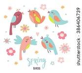bird set   Shutterstock .eps vector #386406739