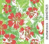 summer coloful hawaiian... | Shutterstock .eps vector #386407825