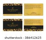 loyalty card design template.... | Shutterstock .eps vector #386412625