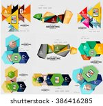 geometric infographic banners  | Shutterstock .eps vector #386416285