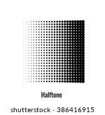 halftone illustration. halftone ... | Shutterstock .eps vector #386416915
