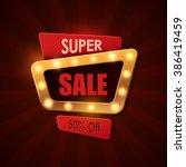 sale background in vintage... | Shutterstock .eps vector #386419459