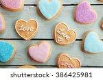 Assortment Of Love Cookies On...