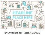 marketing line icons... | Shutterstock .eps vector #386426437