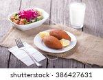 turkish ramadan food icli kofte ...   Shutterstock . vector #386427631