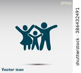 happy family icon in simple... | Shutterstock .eps vector #386432491
