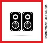 acoustics speakers   Shutterstock .eps vector #386438785