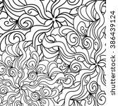 round ornament seamless pattern ... | Shutterstock .eps vector #386439124