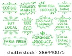 set of vector typographic... | Shutterstock .eps vector #386440075