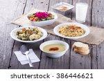 turkish traditional ramadan...   Shutterstock . vector #386446621