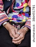 Small photo of Old hand of akha tribes.