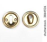 metallic door lock | Shutterstock . vector #3864526