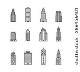skyscaper icons | Shutterstock .eps vector #386456401