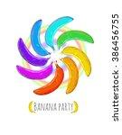 vector background. banana party. | Shutterstock .eps vector #386456755