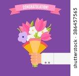 Wedding Bouquet Flowers Vector...
