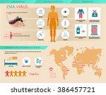 zika virus infographic ... | Shutterstock .eps vector #386457721