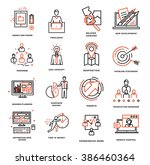 thin line icons set. business... | Shutterstock .eps vector #386460364