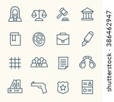 law line icons | Shutterstock .eps vector #386462947