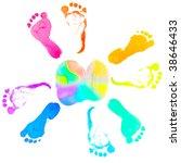 New Born Baby's Foot Print...