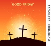 good friday. vector... | Shutterstock .eps vector #386464711